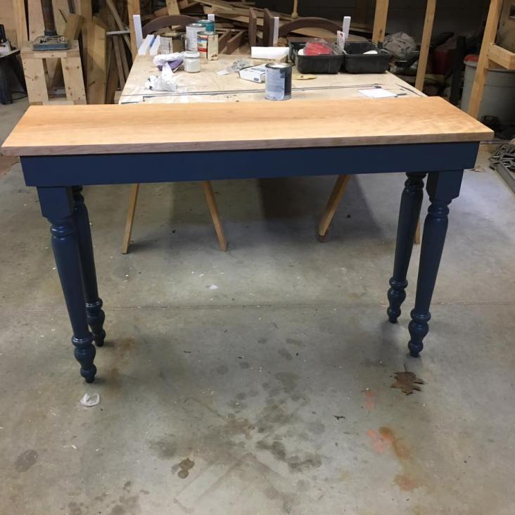 Custom console media table (paint and stain)