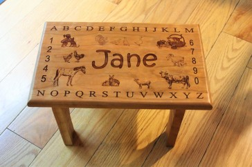 Child's Stool with name personalization
