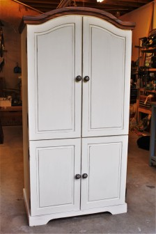 Rustic Farmhouse Armoire - $250 (Can be customized with a hanging rail)
