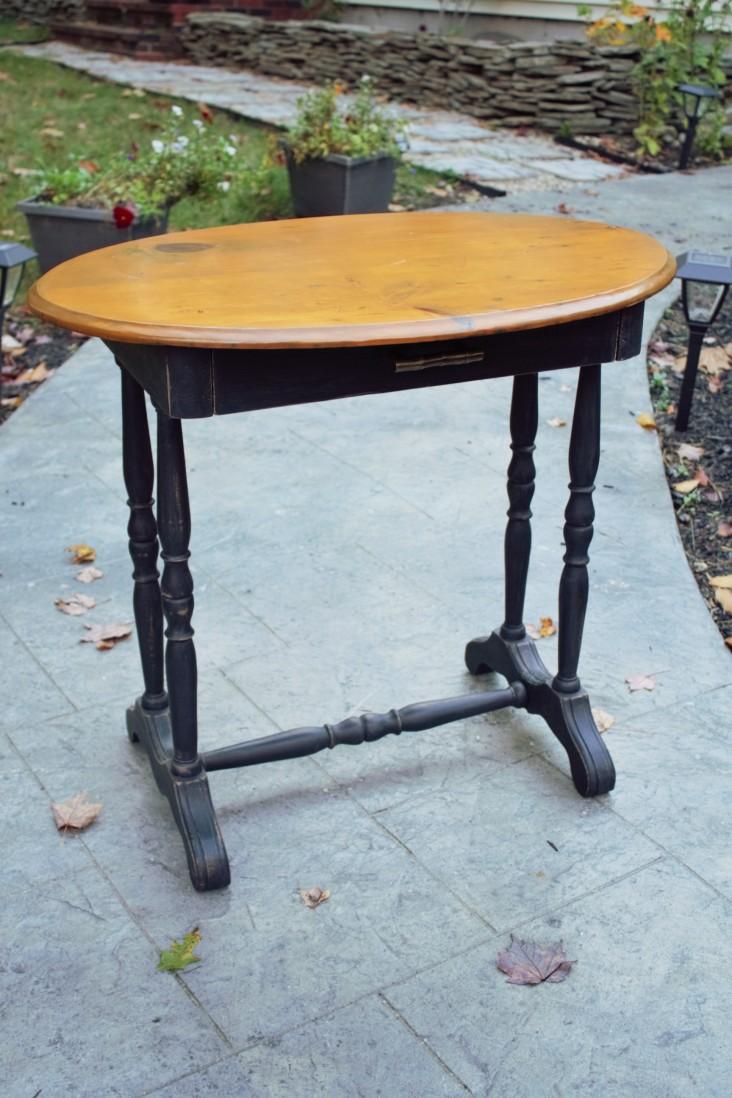 Pumpkin Pine Side Table