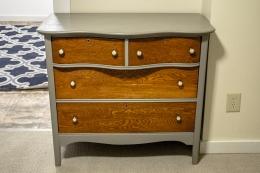 Antique 2-over-2 curved Dresser